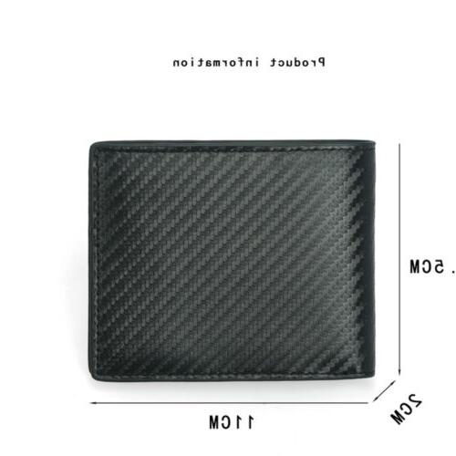 RFID Blocking Carbon Fiber Bifold Card ID Holder Wallet US