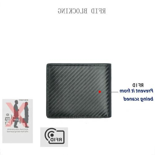 RFID Fiber Leather Credit Card ID