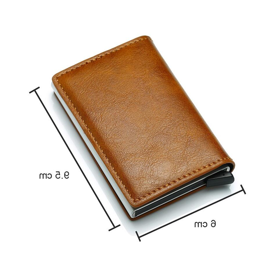 DIENQI Rfid Men Purse Slim <font><b>Wallets</b></font> Thin