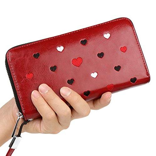 Buvelife RFID Women,Credit Card wallet Leather Credit Card Zipper