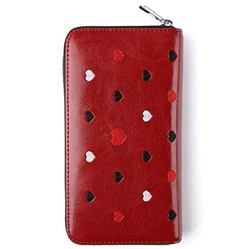 Buvelife RFID Wallets Women,Credit Leather Credit Card Zipper