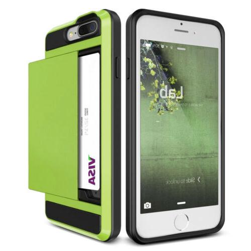 ShockProof Card Wallet Case Cover iPhone PLUS