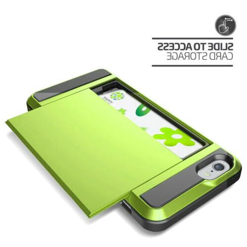 ShockProof Wallet Case Cover For 6 PLUS