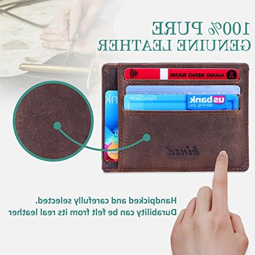 Kinzd Slim Front Wallet Stylish Gift