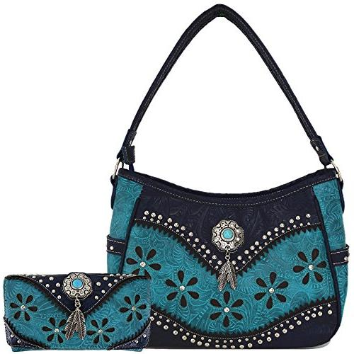 tooled leather laser cut concealed carry purses