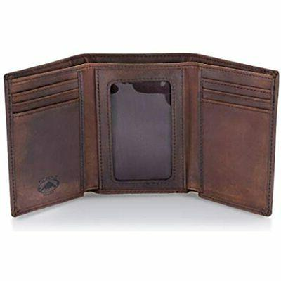 Trifold Leather Wallet For Men With RFID Blocking  Shoes