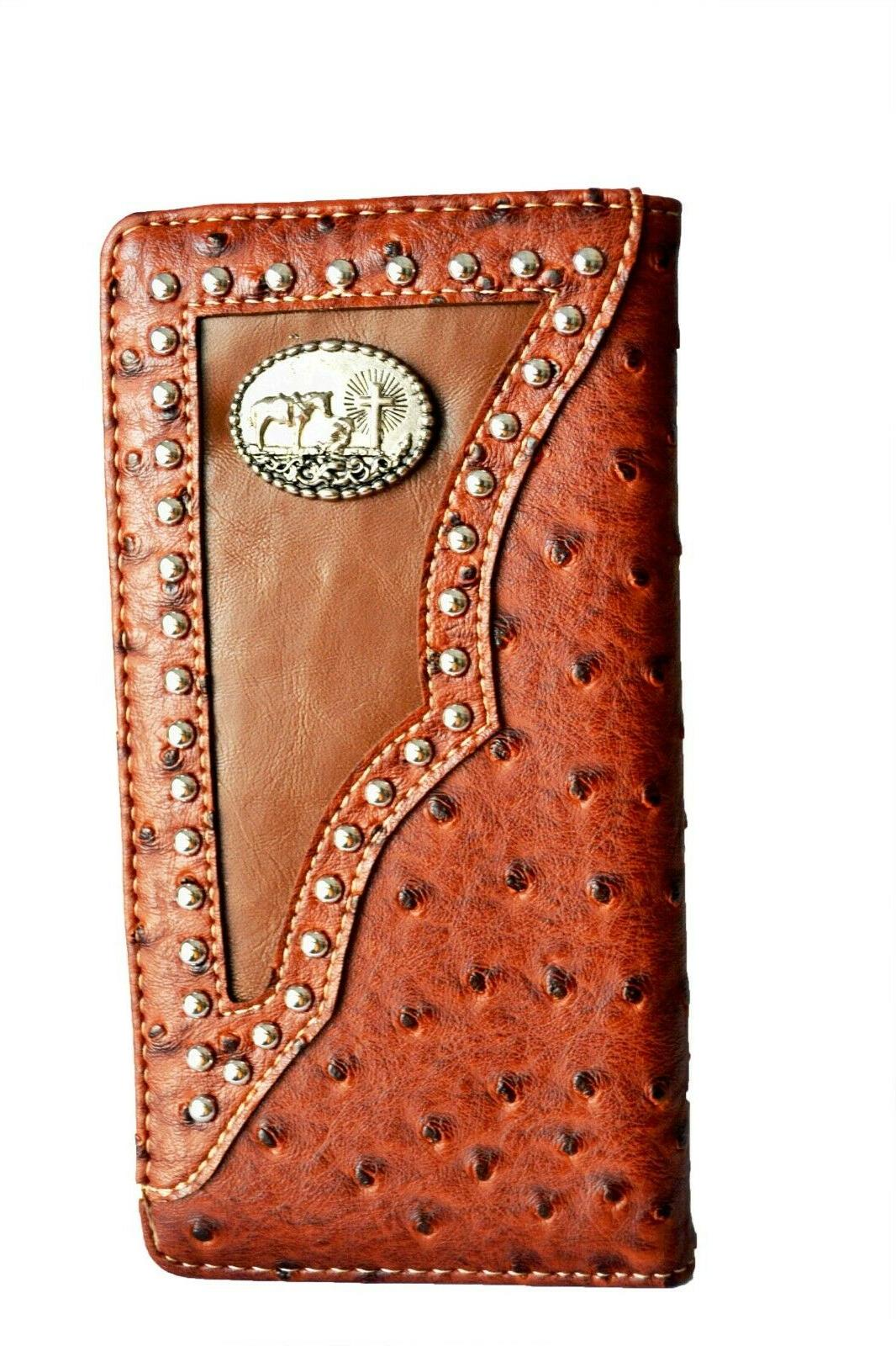 Western wallets for Horse State Map Long Wallet Brown