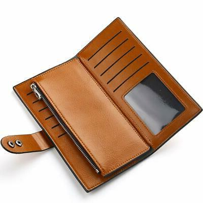 Wallets Wax Leather Card Holder Wallet ...