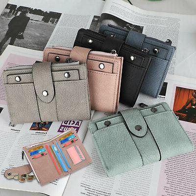 Leather Wallet for Women Ladies Card Bifold Clutch