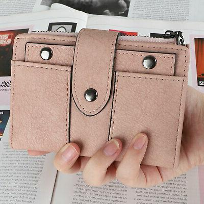 Leather Wallet for Ladies Credit Card Bifold Purse