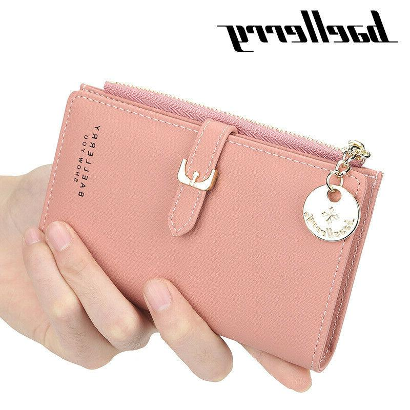 RFID Blocking Women Small Leather Wallet Credit Card Holder