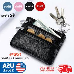 Leather Coin Purse Women Small Wallet Change Purses Zipper M