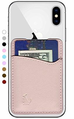 Premium Leather Credit Card Holder Stick On Wallet iPhone An