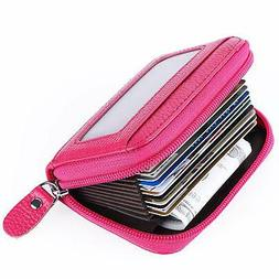 Leather Credit Card Wallet for Women RFID Credit Card Holder