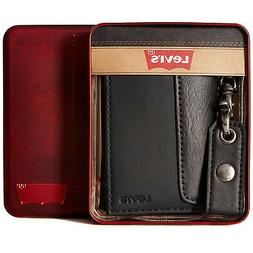 Levi's Leather Trifold Id Credit Card Chain Wallet 31lv1194