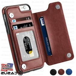 leather wallet back magnetic flip cover thin