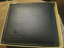 Clifton Heritage Leather Wallet BLACK Bifold New in Box Bin