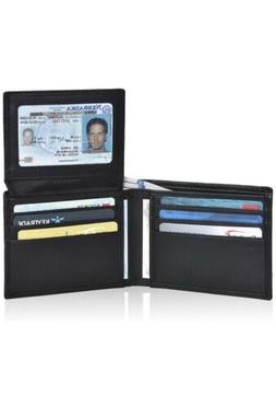 Clifton Heritage Leather Wallet BLACK - RFID Bifold Stylish
