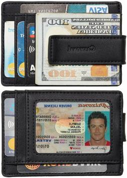 Leather Wallet Credit Card Slim Holder ID Front Pocket Money