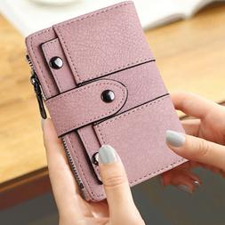 Leather Wallet for Women Ladies Credit Card Holder Bifold Pu