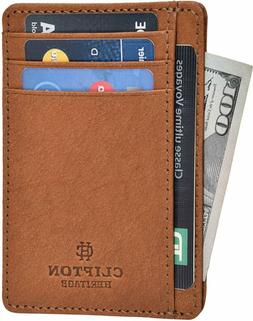 Clifton Heritage Leather Wallets for Men  Women – RFID Blo
