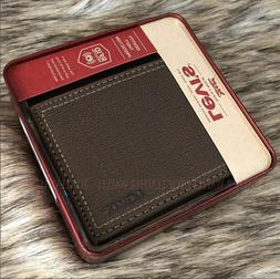 Levi's Leather RFID Protection Traveler Wallet with Zipper P