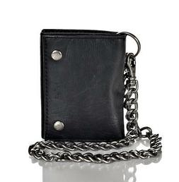 levi s men s leather trifold chain