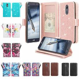 LG Stylo 4/Q Stylus Cute Wallet Phone Case Cover w/ Kickstan