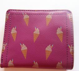 Fossil Logan Bifold Wallet- Unicone- iris color  RFID protec