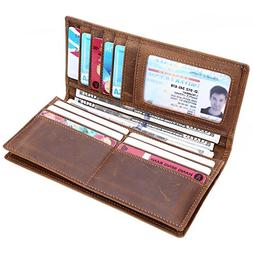 long wallet credit card holder id window