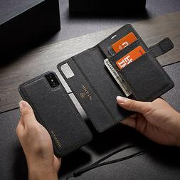 Luxury Detachable Magnetic Leather Stand Wallet Case Cover F