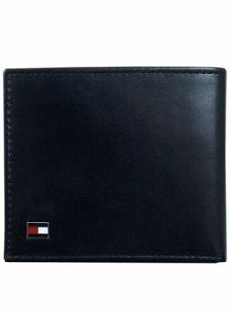 Tommy Hilfiger® Men's Black Oxford Flip Billfold Leather