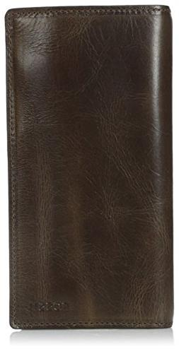 Men's Fossil 'Derrick' Leather Executive Checkbook Wallet -