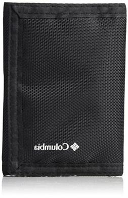 Columbia Men'S Rfid Blocking Nylon Trifold Wallet, Black, On