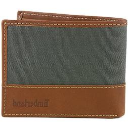 Timberland Men's Baseline Canvas Passcase, Charcoal, One Siz