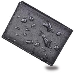 Men's Bifold Trifold Wallet RFID Blocking Genuine Leather Sl