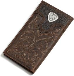 Ariat Men'S Boot-Embroidery Rodeo Tan Wallet