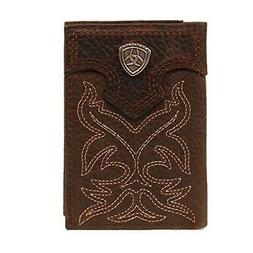 Ariat Men's Boot Embroidery Tri-Fold Tan, Brown, One Size