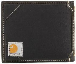 Carhartt Men's Canvas Passcase Wallet, Black, One Size