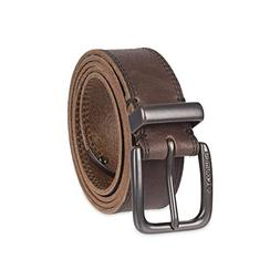 Columbia Men's Casual Leather Belt, Brown tip, Small