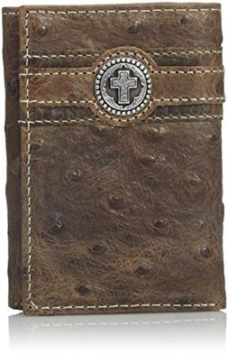 Ariat Men's Circle Cross Overlay Tri-Fold, Brown, One Size
