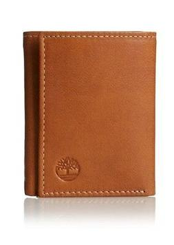 Timberland Men's Cloudy Trifold Leather Wallet