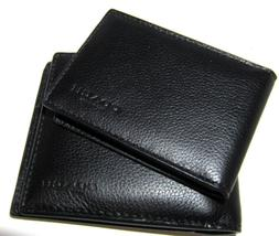 Coach Men's Compact ID Sport Calf  Black Leather Wallet F749