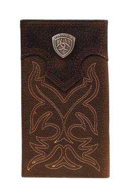 Ariat Men's Dark Brown Rodeo Boot Stitch Wallet