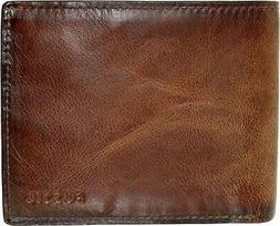Fossil Men's Derrick Rfid Blocking Flip Id Bifold Leather Wa