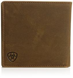 Ariat Men's Distressed Oversized Bifold Western Wallet, Tan,