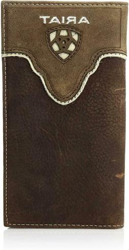 Ariat Men's Distressed Shield Inlay Rodeo Western Wallet