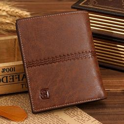 Men's Leather Bifold Credit ID Card Holder Wallet Clutch Bil