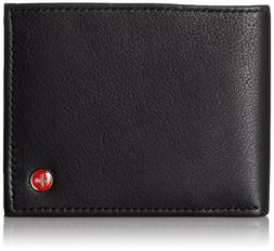 Alpine Swiss Men's Leather Bifold Wallet Removable Flip Up I