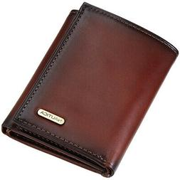 Nautica Men's Leather Credit Card Id Wallet Pocketbook Trifo